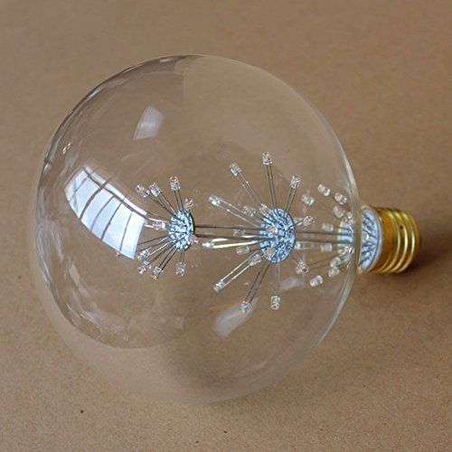 Zehui LED Star Edison Bulb 220V/5W Retro Style LED Firework Bulb E27 Decorative Lamp for Christmas Halloween Festival Parties G125 by Zehui
