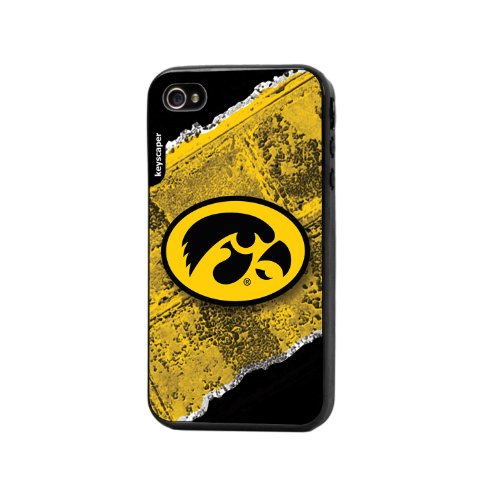 Keyscaper Cell Phone Case for Apple iPhone 4/4S - Iowa Hawkeyes (Iowa Hawkeyes Iphone 4 Case)