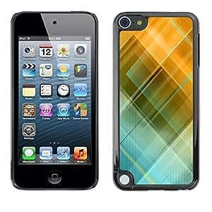 TopCaseStore / la caja del caucho duro de la cubierta de protección de la piel - Blue Yellow Pastel Pattern - Apple iPod Touch 5