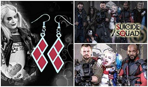 DC+Comics Products : DC Comics Suicide Squad Harley Quinn Logo (Joker-Batman) Dangle Earrings By Athena