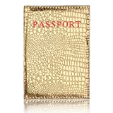 MChoice Dedicated Nice Travel Passport ID Card Cover Holder Case Protector Organizer (Gold)