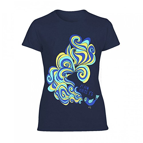 Plain White Ts Bird Junior Top Small Navy