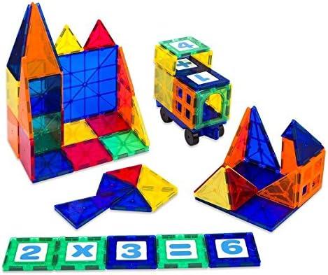 Crenova Magnetische Spielzeug Bausteine Regenbogenset 69 Teile