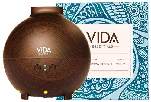 Extra Large Essential Oil Diffuser Holds a Big 20 FL OZ / 600 ml. Lasts All Night, Very Quiet. Mist Humidifier Aromatherapy Machine for Office Home Bedroom Study Yoga Spa (Dark Brown). ...