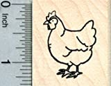Hen Rubber Stamp, Chicken