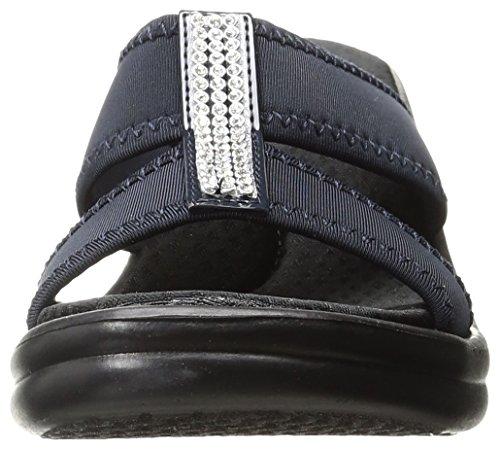 Skechers Cali Mujer Rumblers two-strap Slide Sandalias de cuña Marino