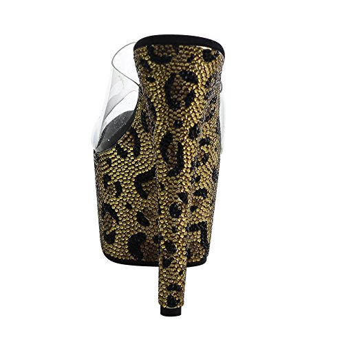 BEJEWELED Pleaser Clr Mules Gold 701LP Femme pour blk drxrPBSq