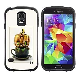 Paccase / Suave TPU GEL Caso Carcasa de Protección Funda para - Alien Pumpkin Halloween Funny - Samsung Galaxy S5 SM-G900