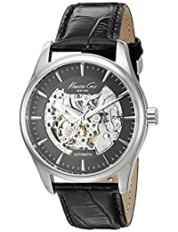 Kenneth Cole New York 10027199 Men's Automatic Skeleton Black Strap Watch
