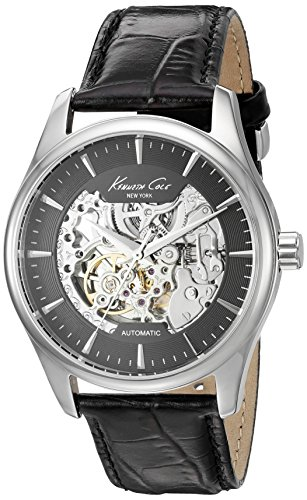 - Kenneth Cole New York Men's 'Automatic' Automatic Stainless Steel and Black Leather Dress Watch (Model: 10027199)