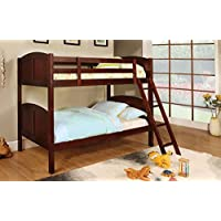 247SHOPATHOME Idf-BK903CH Bunk-Beds, Twin, Cherry