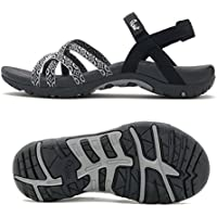 Viakix Walking Sandals for Women - Comfortable Athletic Stylish Shoes for Hiking, Outdoors, Beach, Water