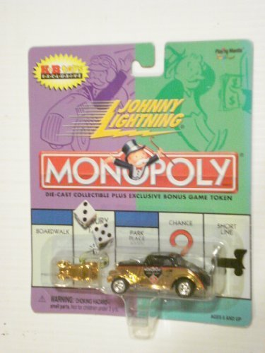 2000 Johnny Lightning Monopoly Vintage Gold Colored Willys With Gold Colored Token