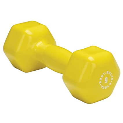 Amazon.com: Body Solid Tools BSTVD9 9-Pound Vinyl Dumbbell ...