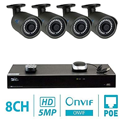 GW H.265 NVR HD Megapixel Security Camera System 5MP 1920p Network Poe Weatherproof IR Led IP Cameras Night Vision