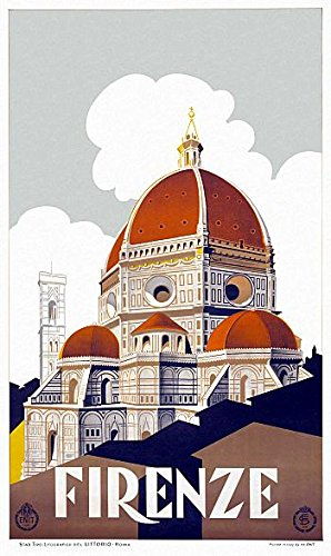Firenze Florence Italy Travel Poster Paper