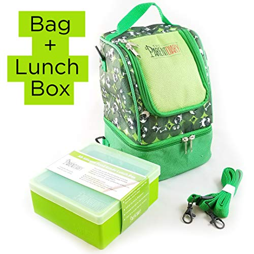 (The Parent Diary Insulated Kids Lunch Bag PLUS Silicone Lunch Box Color: Green)