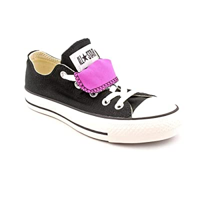 Converse Women's AS Double Tongue Ox (Black/Iris Orchid 7.0 M) | Fashion Sneakers