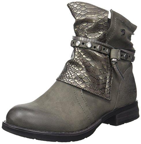 Kvinners Skredder Tom 3795612 Gris Biker grå Boots qEgSUxgw