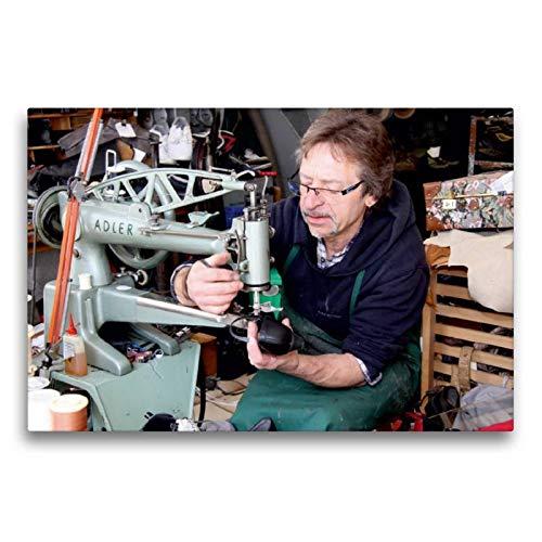 CALVENDO Toile Textile de qualité supérieure de 75 cm x 50 cm, Motif du Calendrier, Artisanat de la Chaussure, décoration Murale, Image sur châssis - Artisanat à la Chaussure Humain