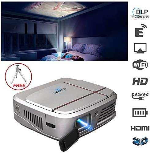 [해외]3D 고화질 DLP 영사기 소형 영사기 헤매고 무선 LED 3300 루멘 HD 홈 시네마 프로젝터 게임 영화 감상 야외 엔터테인먼트 휴대용 비디오 프로젝터 / 3D DLP High Quality Projector Small Projector Smartphone Wireless 3300 LED LumenHD Home Cine...