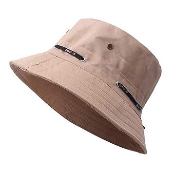 Unisex Adults 100/% Cotton Bucket Hat Summer Boonie Cap Sun Fishing Fisherman Breathable Cap