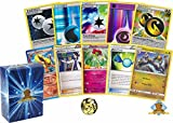 100 Card Pokemon Lot – No Commons! Uncommon Trainers Special Energy and Foil Energy In Every Lot! Includes Coin! Golden Groundhog Box In Every Bundle!