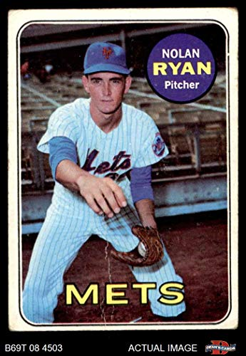 1969 Topps # 533 Nolan Ryan New York Mets (Baseball Card) Dean's Cards 2 - GOOD (1969 New York Mets Baseball)