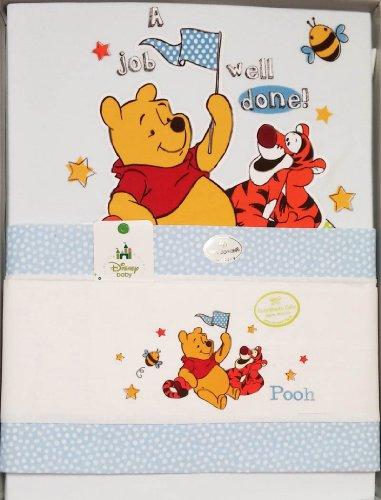 Winnie The Pooh Lenzuola.Set Completo Winnie The Pooh Per Culle E Carrozzina Lenzuola E