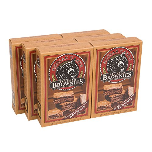 Kodiak Cakes Big Bear Brownie Mix, Double Chocolate Chunk, 18 Ounce (Pack of 6)