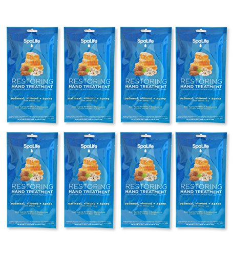 Spa Life Restoring Miraculous Moisturizing Hand Gloves (Oatmeal + Almond+Honey Pack of 8)