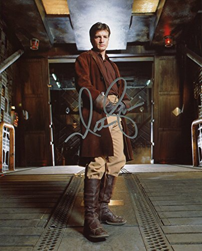 Nathan Fillion Signed / Autographed 8x10 glossy Firefly Photo. Includes Fanexpo Certificate of Authenticity and Proof. Entertainment Autograph Original