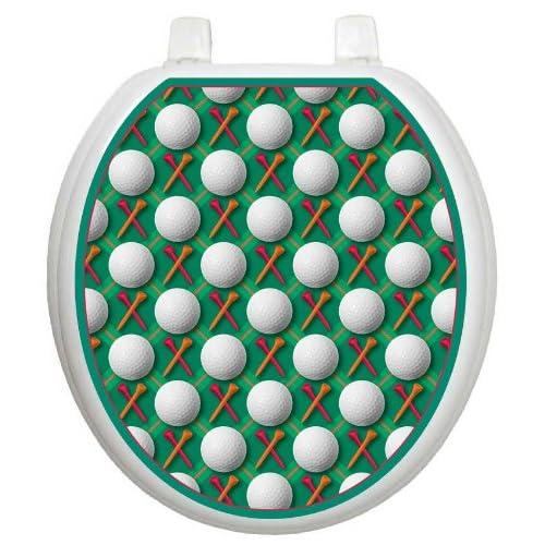 70%OFF Toilet Tattoos TT-6661-O XoXo Golf Decorative Applique for Toilet Lid, Elongated