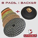 Stadea DPPW04STDA50BB81 Diamond Polishing Pads Concrete Marble Granite Stone Polishing 4'' Kit
