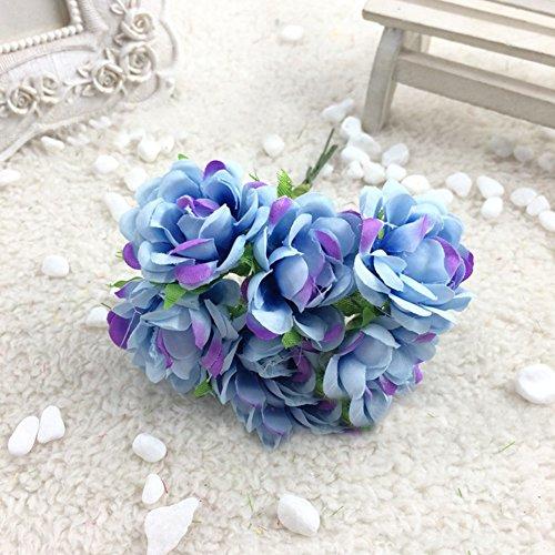 litymitzromq Artificial Flowers Fake Plants, 6Pcs Artificial Silk Fake Flowers Floral Wedding Bouquet Party Home Decoration Faux Fake Flowers Floral Arrangement