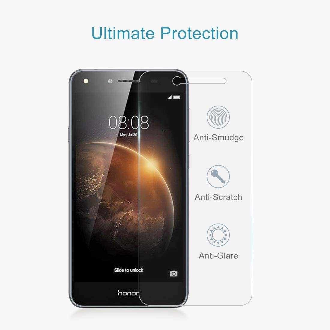 ALICEWU WJH 100 PCS 0.26mm 9H 2.5D Tempered Glass Film for Huawei Honor 5A