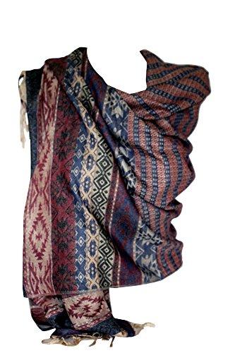 b3702844db2 Soft   Light Multi Coloured Aztec Print Pashmina Feel Scarves Shawl Stole  Wrap Head Scarf (