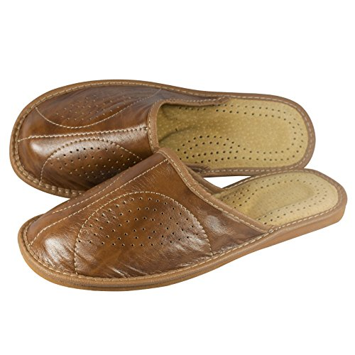 aveego - Zapatillas de estar por casa para hombre marrón