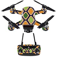 Skin for DJI Spark Mini Drone Combo - Aztec Tile| MightySkins Protective, Durable, and Unique Vinyl Decal wrap cover | Easy To Apply, Remove, and Change Styles | Made in the USA