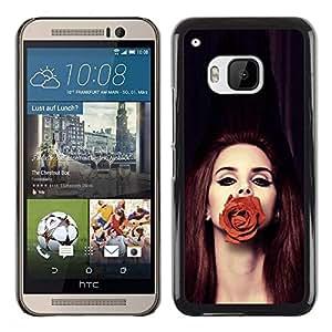 Be Good Phone Accessory // Dura Cáscara cubierta Protectora Caso Carcasa Funda de Protección para HTC One M9 // Rose Fashion Redhair Beauty Deep