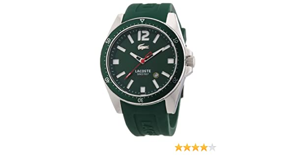 Amazon.com: Lacoste Mens 2010663 Seattle Green Stainless Steel Watch: Lacoste: Watches