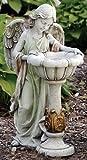 Garden Collection, Solar Angel Birdbath Statue, 23'' H