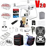 DJI Phantom 4 PRO V2.0 (V2) Drone Quadcopter Bundle Kit with 2 Batteries, 4K Professional Camera Gimbal and MUST HAVE Accessories