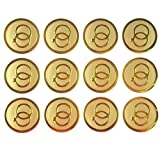 Homeford FNS007335GLD Wedding Ring Print Foil Seal Stickers (100 Pack), 1