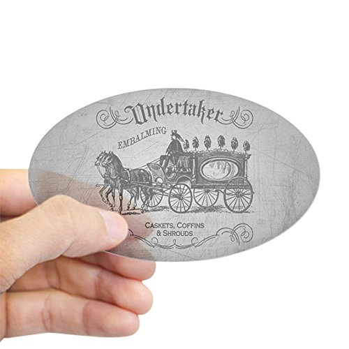 CafePress Undertaker Vintage Style Sticker Oval Bumper Sticker, Euro Oval Car Decal ()