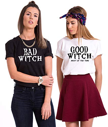 Soul Couple Matching Best Friend Shirts BFF Shirts for 2 Girls Halloween T-Shirt Costumes for Women]()
