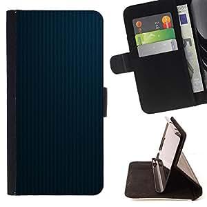 BullDog Case - FOR/Sony Xperia Z1 L39 / - / Texture Blue Lines 2 /- Monedero de cuero de la PU Llevar cubierta de la caja con el ID Credit Card Slots Flip funda de cuer
