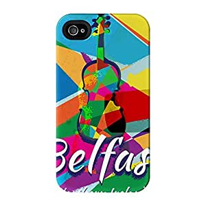 Belfast Full Wrap High Quality 3D Printed Case for iPhone 4 / 4s by Nick Greenaway + FREE Crystal Clear Screen Protector