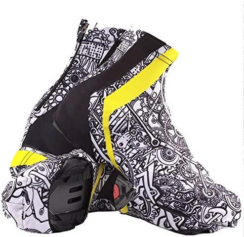 サイクリングシューズカバー クリエイティブグラフィティ乗馬靴カバー防風防水屋外乗馬用品 シューズカバー (Color : Black, Size : XL)