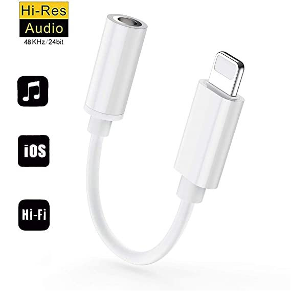 online retailer 93e7e 2ec86 for iPhone Headphone Adapter Dongle Connector for iPhone Xs/Xs Max/XR/ 8/8  Plus/X / 7/7 Plus 3.5 mm Headphone Jack Adapter Aux Audio Jack Earphone ...
